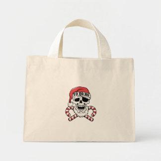 Bolsa Tote Mini Yo ho ho - papai noel do pirata - Papai Noel