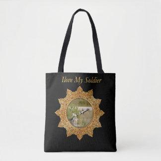 Bolsa Tote Míssil teleguiado do tanque do exército do ouro