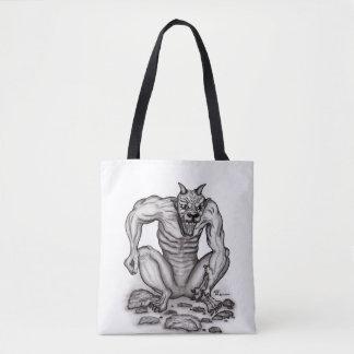 Bolsa Tote Mistura-Criatura - troll, Golem e diabo