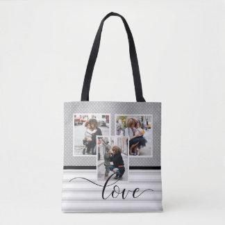"Bolsa Tote Modelo personalizado ""amor "" da foto"