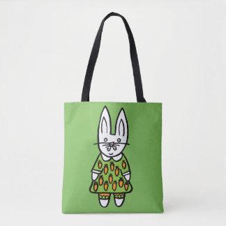 Bolsa Tote Moeda de um centavo o coelho