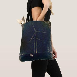 Bolsa Tote Moinhos de vento da sacola abstrata artística da