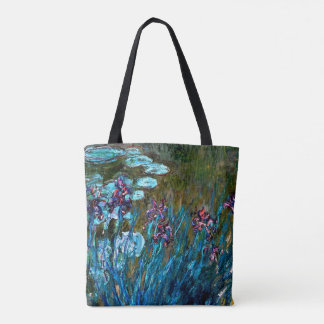 Bolsa Tote Monet - íris e lírios de água
