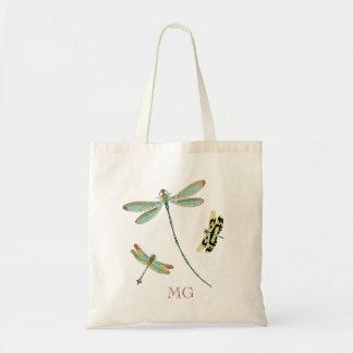 Bolsa Tote Monograma Cerceta-Voado das libélulas