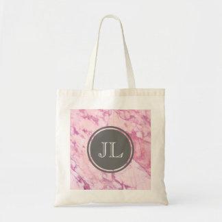 Bolsa Tote Monograma de mármore cor-de-rosa com motivo