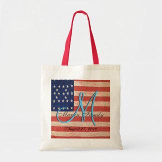 Bolsa Tote Monograma do americano da reunião de família dos