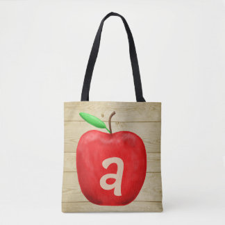 Bolsa Tote Monograma vermelho de Apple