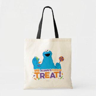 Bolsa Tote Monstro do biscoito - eu escolhe sempre o deleite