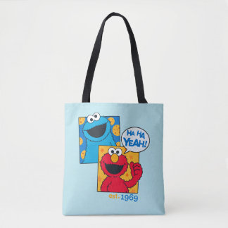 Bolsa Tote Monstro & Elmo do biscoito | Ha Ha yeah