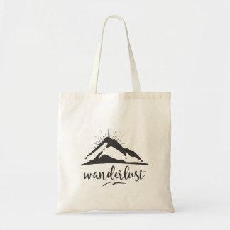Bolsa Tote Montanha com Sunrays - tipografia do Wanderlust