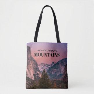 Bolsa Tote Montanha da fé
