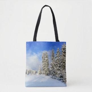 Bolsa Tote Montanha no inverno, suiça de Jura