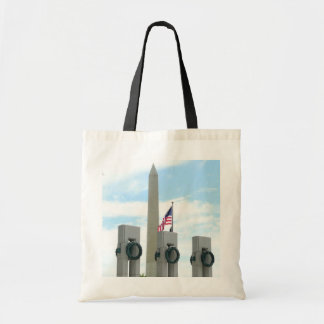 Bolsa Tote Monumento de Washington e memorial de WWII na C.C.