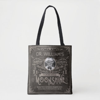 Bolsa Tote Moonshine o costume Brown do vintage da medicina