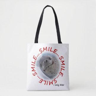 Bolsa Tote Mordida do sorriso… I somente por todo o lado no
