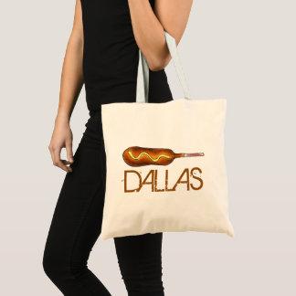 Bolsa Tote Mostarda Foodie do cão de milho de Dallas TX Texas