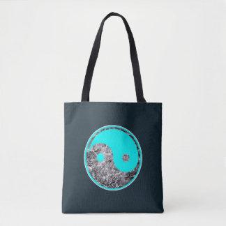 Bolsa Tote motivo de Yin-Yang do aqua na água rippling