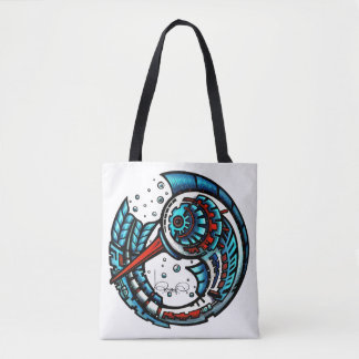 Bolsa Tote MOTMOT (toda a sacola impressa)