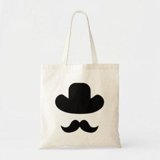 Bolsa Tote Moustache e chapéu