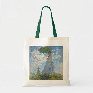 Bolsa Tote Mulher de Claude Monet | com um parasol