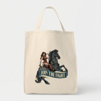 Bolsa Tote Mulher maravilha na arte cómica do cavalo