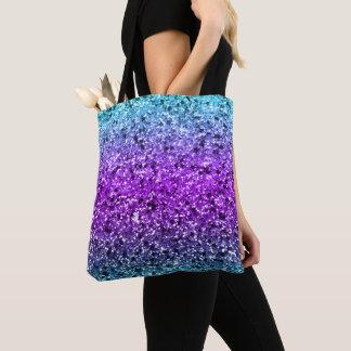 Bolsa Tote Multi textura do brilho do falso das cores