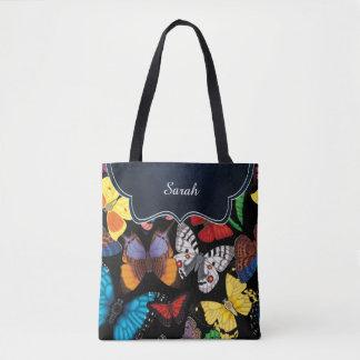 Bolsa Tote Mundo da borboleta personalizado