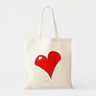 Bolsa Tote Na moda feminino bonito do coração vermelho do