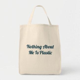 Bolsa Tote Nada sobre mim é sacola plástica