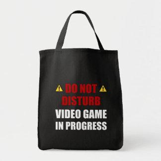 Bolsa Tote Não perturbe o jogo de vídeo
