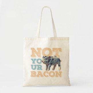 Bolsa Tote Não sua sacola do bacon