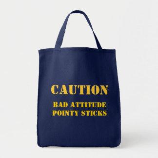 Bolsa Tote Não suje com este knitter!