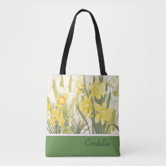 Bolsa Tote Narciso, Daffodils e sacola de Jonquils