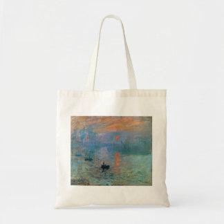 Bolsa Tote Nascer do sol da impressão por Claude Monet