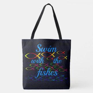 Bolsa Tote Natação com os peixes