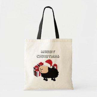 Bolsa Tote Natal bonito engraçado dos carneiros dos desenhos