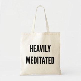 Bolsa Tote Natal engraçado pesadamente meditated da ioga