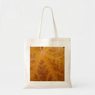 Bolsa Tote Natureza amarela do abstrato do outono da folha de