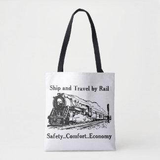 Bolsa Tote Navio e viagem do vintage pelo trilho