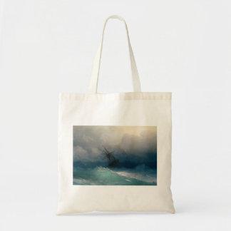Bolsa Tote Navio em mares tormentosos, Ivan Aivazovsky -