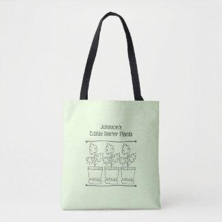 Bolsa Tote Negócio da planta verde e do berçário de árvore