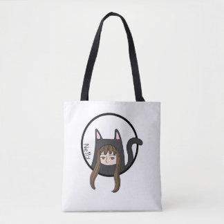 Bolsa Tote Nelly, uma menina bonito do gato