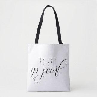 Bolsa Tote Nenhum grão nenhuma sacola da pérola