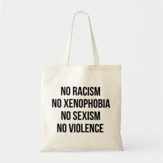 BOLSA TOTE NENHUM RACISMO, NENHUMA HOMOFOBIA, NENHUM SEXISMO,