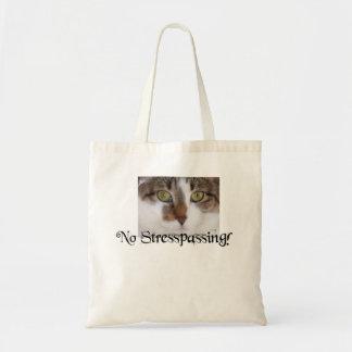Bolsa Tote Nenhum Stresspassing! Relógios calmos do gatinho