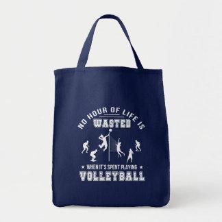 Bolsa Tote Nenhuma hora desperdiçada ao jogar o voleibol