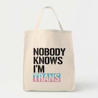 Bolsa Tote Ninguém sabe que eu sou o transporte - -