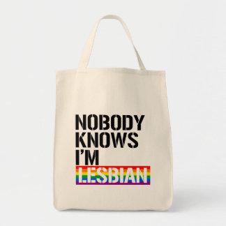 Bolsa Tote Ninguém sabe que eu sou - - os direitos lésbicas