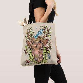 Bolsa Tote Ninho do pássaro dos Antlers dos cervos