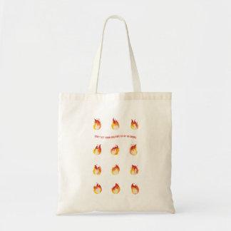 Bolsa Tote No fogo - não deixe seus sonhos ir acima no fumo